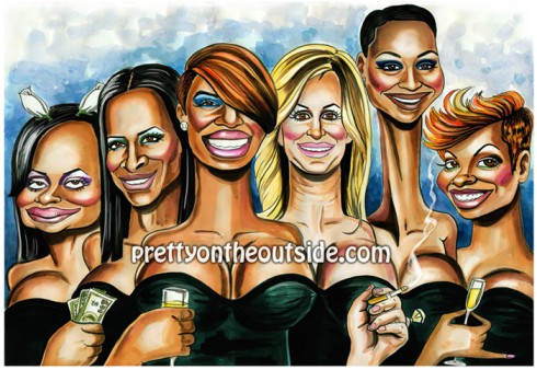 Real Housewives of Atlanta Pretty on the Outside drawing by David Gilmore