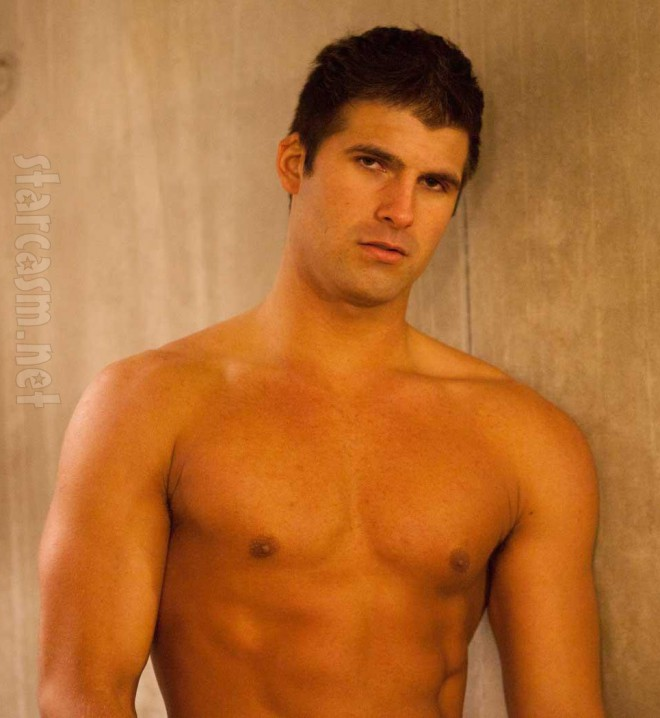 Shane of Big Brother 14 modeling shirtless