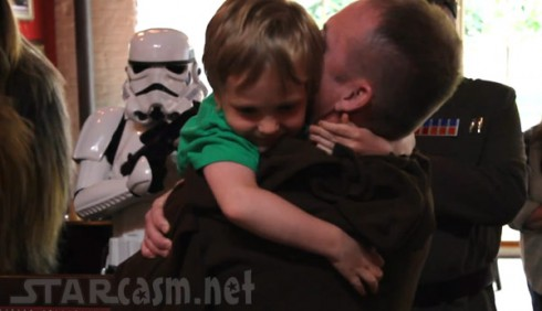 US soldier Col. Rob Kiebler has a Star Wars themed return for his son Danny