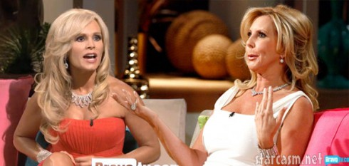 Tamra Barney and Vicki Gunvalson fighting at the Real Housewives of Orange County Season 7 Reunion Special
