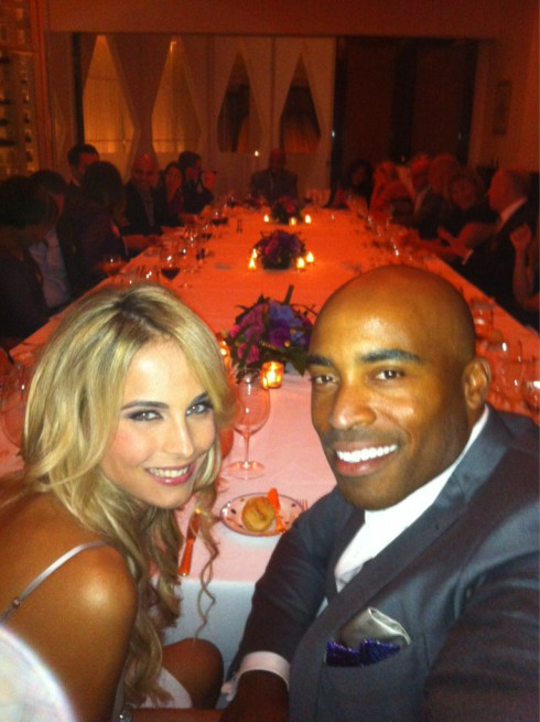 Tiki Barber Traci Lynn Johnson wedding reception photo