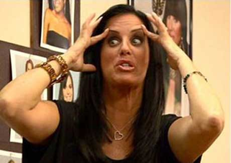 Patti Stanger funny photo acting crazy