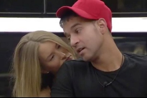 "Mike ""The Situation"" and Danica Thrall in 'Celebrity Big Brother'"