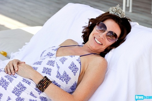 LuAnn de Lesseps in St. Barths for 'Real Housewives of New York'