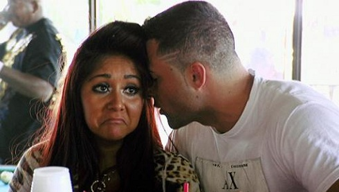 Snooki and Jeff Miranda at the Jersey Shore