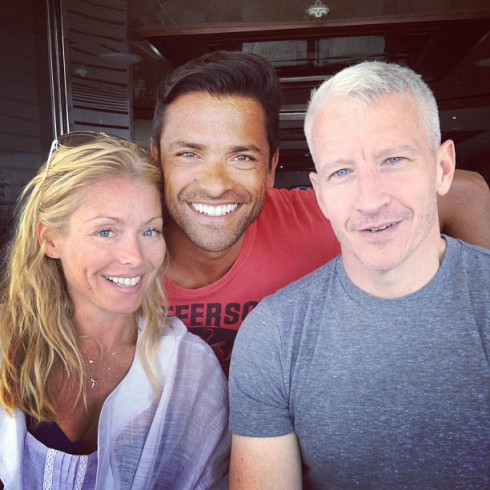 Kelly Ripa Mark Consuelos and Anderson Cooper vacationing in Croatia together