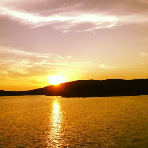Andy Cohen Croatian sunset photo on Instagram