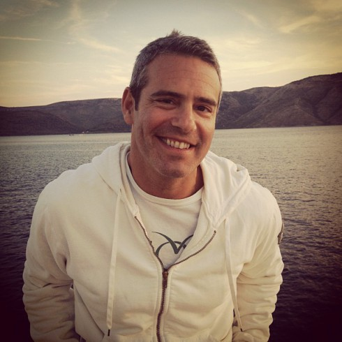 Photo of Andy Cohen in Croatia tweeted by Anderson Cooper