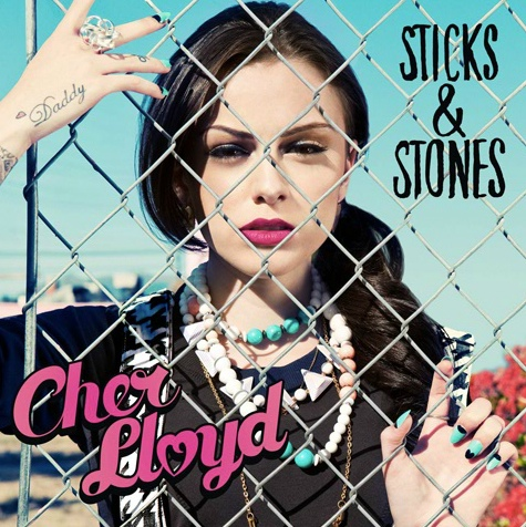 Cover art for the US release of Cher Lloyd's album Sticks and Stones