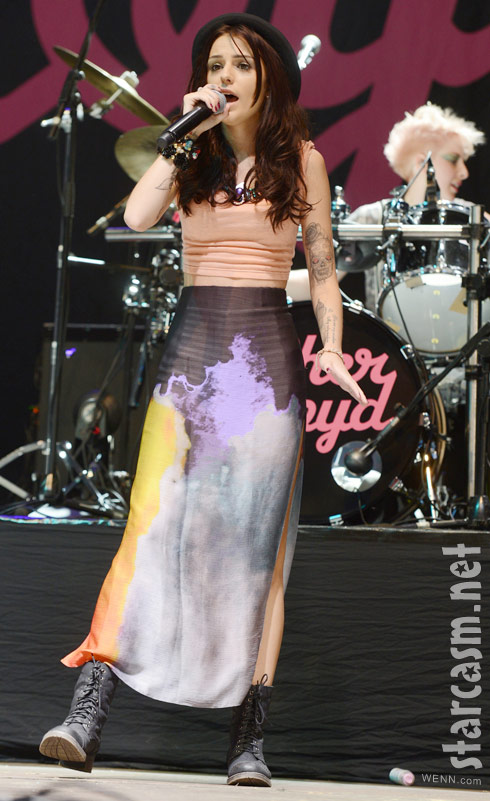 Cher Lloyd has bottle of urine thrown at her during V Festival Day 2 performance in Essex