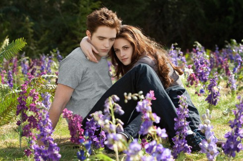 Edward Cullen and Bella Swan in Twilight Breaking Dawn Part II