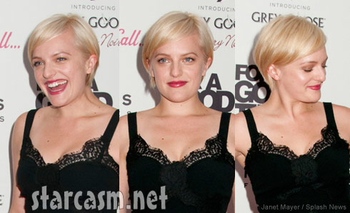 Mad Men's Elisabeth Moss with short blonde hair