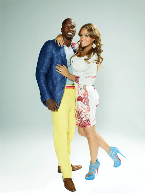 Chad Ochocinco and Evelyn Lozada in Ev &amp; Ocho promotional photo