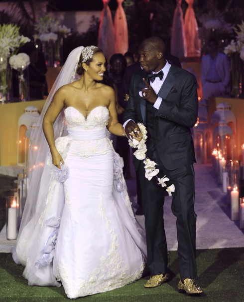 Chad Ochocinco and Evelyn Lozada wedding photo
