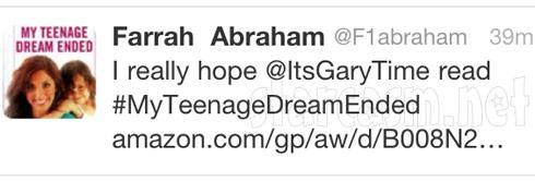 Gary Shirley Farrah Abraham Twitter feud
