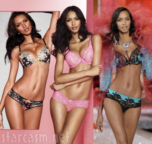 Lais Ribeiro Victoria's Secret Photoshop controversy side by side photos