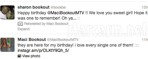 Maci Bookout tweets from her 21st birthday party at Butter NC 3