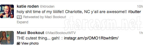 Maci Bookout tweets from her 21st birthday party at Butter NC 5