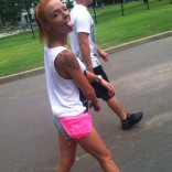 Maci Bookout Carowinds Walking