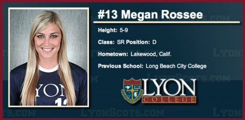 Megan Rossee Lyon College soccer team photo