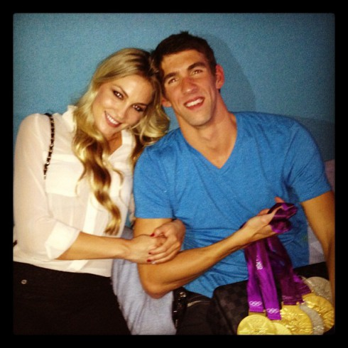 Photos of Michael Phelps and his new girlfriend Megan Rossee