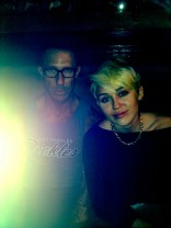 Miley Cyrus and hair dresser Chris McMillan after her haircut