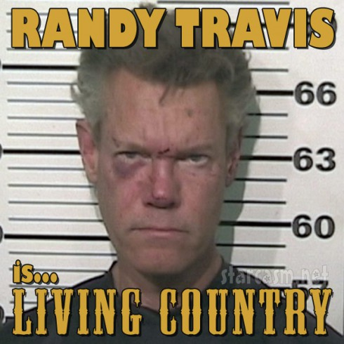 Randy Travis is Living Country album cover