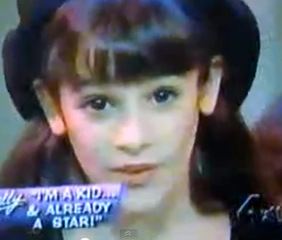 Lea Michele Sarfati nine year's old singing
