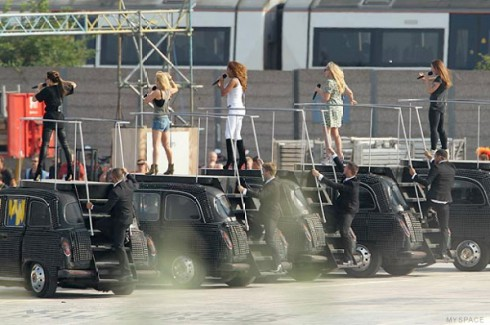 Spice Girls 2012 Olympics closing ceremony rehearsal
