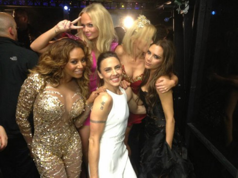 Spice Girls backstage photo at the Olympics closing ceremony