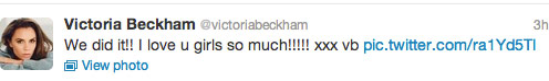 Victoria Beckham tweets about the Spice Girls reunion at the Olympics closing ceremony 3