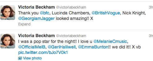 Victoria Beckham tweets about the Spice Girls reunion at the Olympics closing ceremony 4