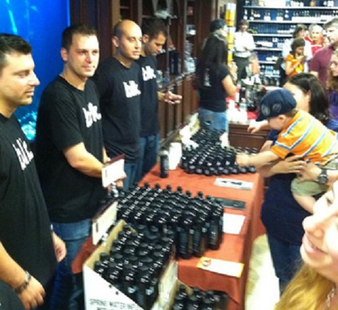 Chris and Albie Manzo sell blk water