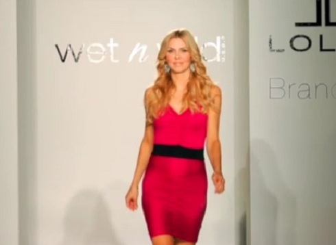 Brandi Glanville walks the runway at Brand B launch