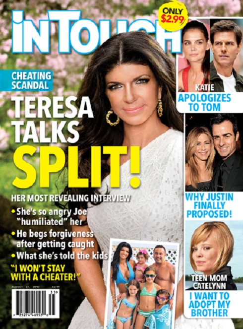 Teresa Giudice on the cover of In Touch Magazine