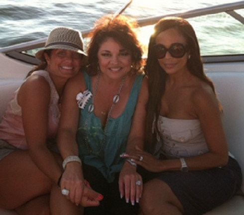 Kathy Wakile and Alisa Maria on a boat
