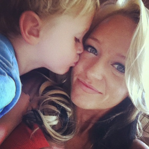 "Maci Bookout and Bentley of ""Teen Mom"""