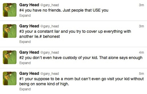 Gary Head's Twitter rant about Jenelle Evans
