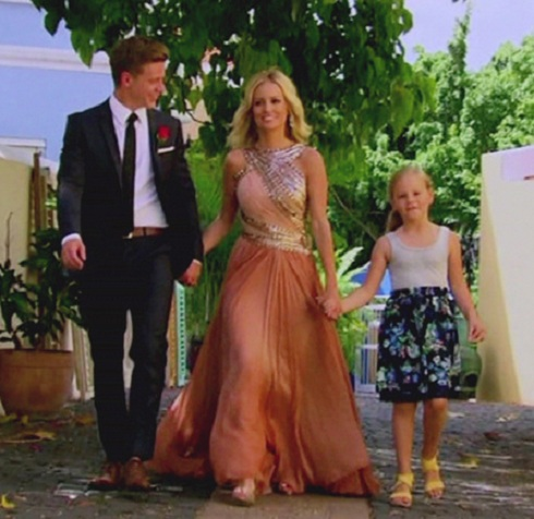 'Bachelorette' star Emily Maynard with fiance Jef Holm and her daughter Ricki