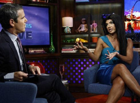 Teresa Giudice with Andy Cohen on 'Watch What Happens Live'