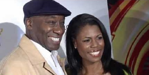 Michael Clarke Duncan and Omarosa Manigault on the red carpet