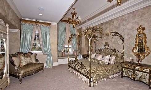 Bedroom in Adrienne Maloof and Paul Nassif's Beverly Hills home