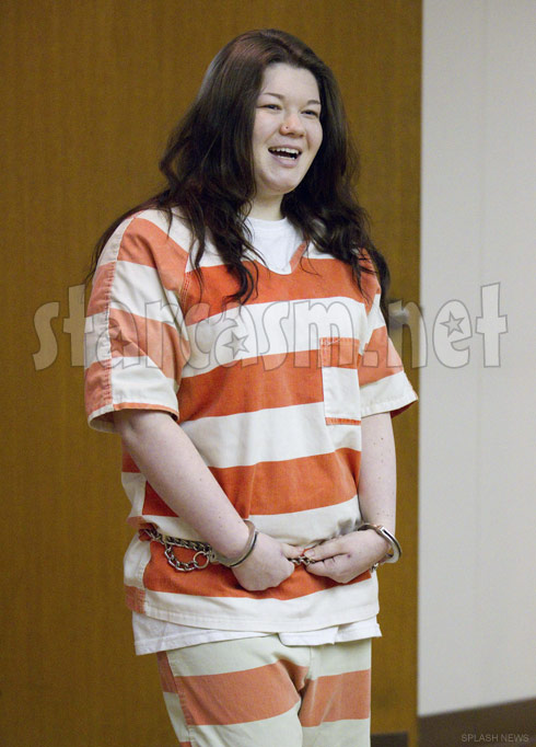 Amber Portwood in prison stripes