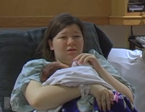 Teen Mom Amber Portwood and baby Leah from 16 & Pregnant episode