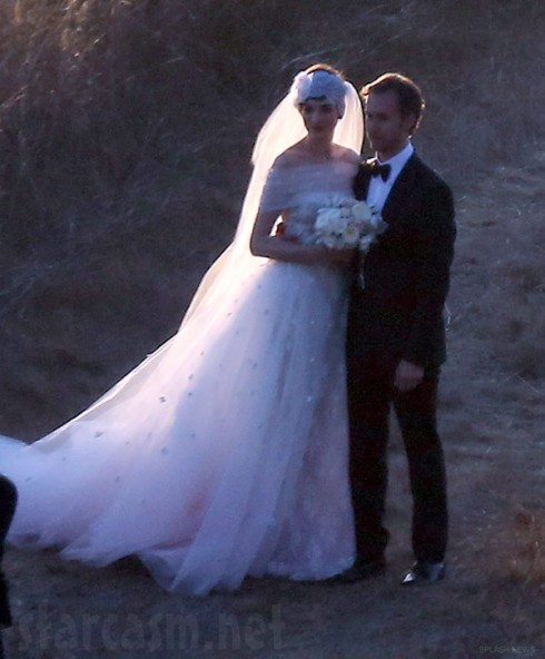 Anne Hathaway and Adam Shulman get married in Big Sur California wedding photo
