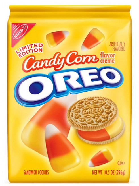 Candy Corn flavored Oreo cookies packaging