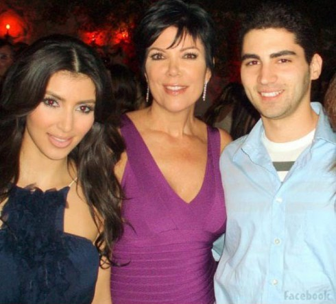Alleged Lindsay Lohan attacker Christian LaBella with Kris Jenner and Kim Kardashian