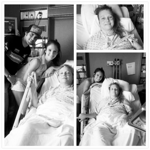 Dalis Connell and her mom along with Ryan Edwards at a hospital in California