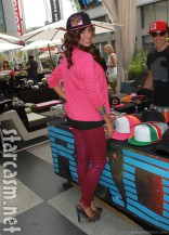 Farrah Abraham in a Bigtruck trucker hat at VMA gifting suite