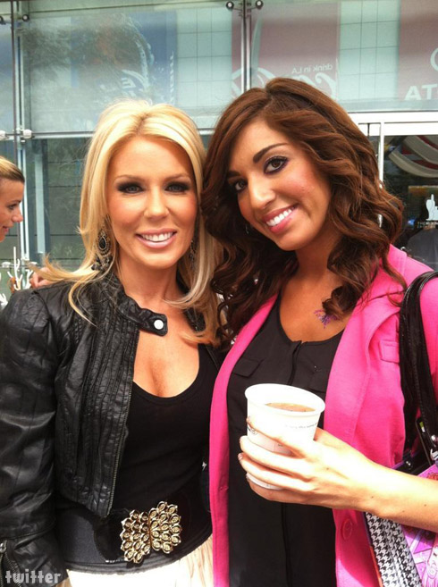 Teen Mom Farrah Abraham and Gretchen Rossi from Real Housewives of Orange County together